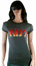 Hot AMPLIFIED KISS Logo Heavy Metal Rock Star Vintage Designer Club T-Shirt S 38