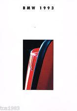1993 BMW Brochure / Catalog:850Ci,750iL,740i,740iL,525i,318i,325iC,M5,325i,535i,