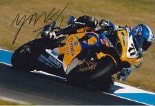 YUKIO KAGAYAMA Signed WSBK Alstare Suzuki Colour Photo