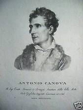 M Antonio Canova scultura Neoclassicismo Guglielmi 1823 litografia Brazzà