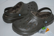 NWT CROCS DASHER LINED CLOGS ESPRESSO BROWN BLACK REALTREE CAMO 4 6 8 9 10 11 12