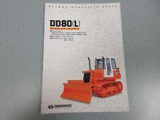 Daewoo Dd80(L) Crawler Dozer Color Brochure 6 Pages