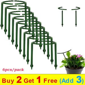 6pcs Splicable Plant Support Garden Trellis Semi-circular Climbing Frame Plastic