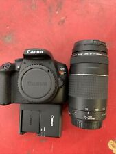 Canon EOS Rebel T6 Digital Camera with 75-300mm Lenses with case
