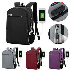 "Antitheft Men Women USB Charging Backpack 16"" Laptop Travel School Outdoor Bag"