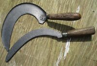 Vintage Retro Sickle Sythe - Garden Tools - Display Items Great Patina and Wear