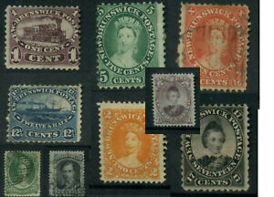 CANADA QV 1860s NEW BRUNSWICK NOVA SCOTIA NEWFOUNDLAND USED + UNUSED