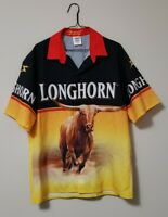 Ron Hornaday Crew Shirt Size Large Longhorn Racing