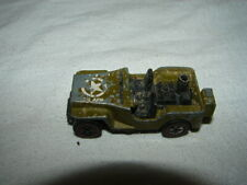 VINTAGE MATTEL CAR HOT WHEELS REDLINE MILITARY ARMY GREEN JEEP