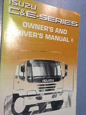 ISUZU Owners and Drivers Manual C and E Series