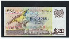 SINGAPORE $ 20 dollars BIRD SERIES CURRENCY PAPER MONEY BANKNOTE A/67-576923