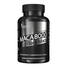 BIOMENTA Maca 8000 - Black Maca Extrakt aus Peru - 180 Maca-Kapseln - vegan