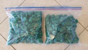 Lot of 500 Green Dasani Plastic Bottle Caps Lids Screw Top - Arts & Crafts