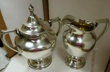 Vintage Sterling Silver Wallace Company Coventry #365 Creamer & Sugar Set (713g)