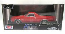 1970 Chevy El Camino SS 396 ~ Red ~ 1:24 Metal Die Cast Car ~ American Legends