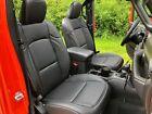 2018-2021 Jeep Wrangler Sahara Sport 4dr Jl Black Leather Seat Covers