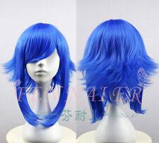 Fashion Unisex Blue Short Fringe Wig Cool Gumi Cosplay Costume Gift