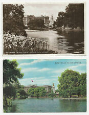 Two Postcards, Buckingham Palace from St James's Park, London