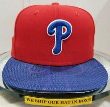 Philadelphia Phillies~MLB~New Era~59FIFTY~Genuine~Double Time~Red & Blue
