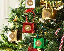 Llene su propio de navidad Adviento Calendario -24 cajas de lámina metálica Pegatinas/Cinta