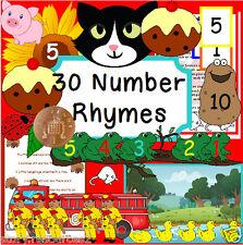 MATHS NUMBER RHYMES  teaching resources SEN EYFS KS1 teacher childminder   CD