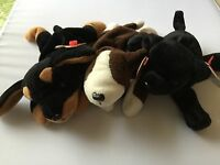 Ty Beanie Babies Lot Of 3 Doby 1996, Luke 1998 And Bruno 1997 A