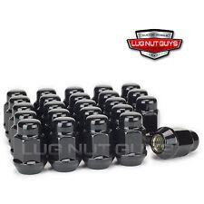 "24 Lug Nuts Bulge Acorn 12x1.5 Gloss Black 3/4"" Hex"