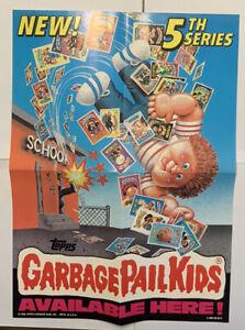 Garbage Pail Kids 5th Series 5 Promo Box Poster Topps 1986