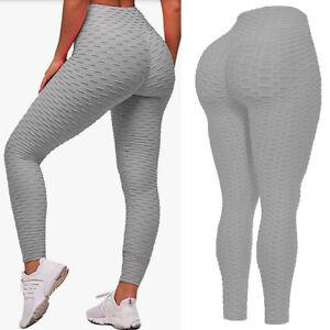 Women High Waist TikTok Leggings Ruched Anti-Cellulite Yoga Pants Fitness T/y