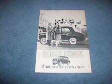 "1958 Triumph Sedan Vintage Ad ""The British Are Coming!"""