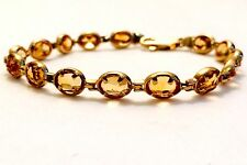 """14K Solid Yellow Gold Women's Bracelet With Yellow CZ 7"""" / 5 mm thick / 9.66g"""