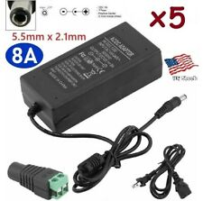 5-Pack 12V 8A 96W AC Adapter Power Supply for CCTV / LED