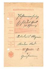 Urberach Ot von Rödermark  1902  Post - Einlieferungsschein   21. 1.1902
