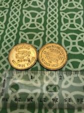 Pair Of 2x Nolte's Northside Service Carwash Tokens FREE SHIPPING