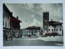 PIEVE DI CADORE Piazza tiziano Fiat Topolino animata Belluno vecchia cartolina