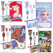 childrens 6 pc set travel bathroom set washbag brush cup washcloth gift set xmas