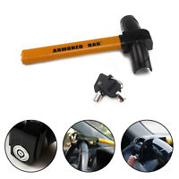 Universal Heavy Duty Steering Wheel Lock Anti Theft Rotary Security Safe Car