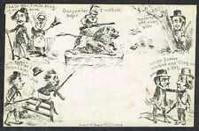 1840 Spooner No 10 'Shooting' Original Mulready Caricature Fine Unused