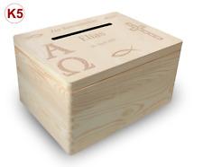 gr. Holzbox Briefbox (K5) Konfirmation Kommunion Geldgeschenke incl. Lasergravur