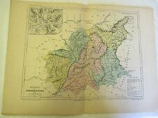 Carte des Basses Alpes et Plan Environs de Digne Malte Brun Gravé par Erhard
