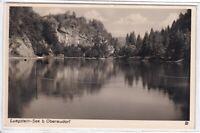 Ansichtskarte Blick auf den Luegstein-See bei Oberaudorf - schwarz/weiß