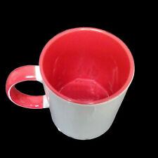 (6,99€/1Stk) Sublimation Kaffee Tasse Becher WEISS -  HENKEL ROT