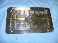 """CHROME """"N"""" GRILL FOR NATIONAL RADIO RAT ROD ETC MINTY SHAPE   /a6"""