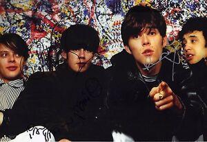 The Stone Roses Signed 12X8 Photo Genuine BROWN SQUIRE MANI & RENI (B)