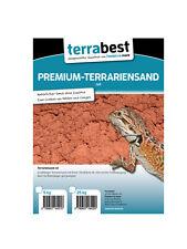 Roter Terrariensand 25 kg grabfähig Bodengrund Terrarium  Terrariensand rot