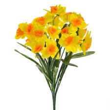 Artificial Silk Bush Yellow Two Tone Daffodils/Daffs Spring Flowers Easter Gift
