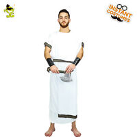 Men's Toga Roman Costume Greek Goddess God Halloween Party Role Play Clothes