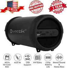 Bluetooth Portable Speaker Wireless Bass Stereo USB Micro SD  Rechargeable Black