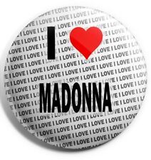 "I Love Madonna Pin Badge 3"" 75mm - Gift - Birthday - Stocking Filler"