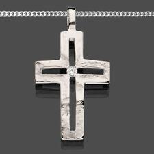 Echt Silber 925 Kreuz Anhänger Kinder Taufe Erst Kommunion Konfirmation Kette
